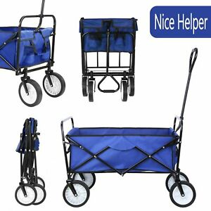 Collapsible Outdoor Wagon Cart Folding Garden Beach Camping Sports Utility Buggy