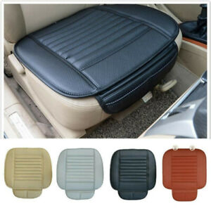Universal PU Leather Car Front Seat Cushion Protector Pad Driver Mat Cover 1PC