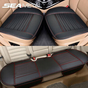 Universal 3D Car Seat Cover Breathable PU Leather Pad Mat Car Front Rear Cushion