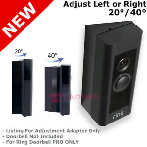 up to 40 Degree Adjust Angle Mount Ring Video Adapter For Ring PRO DoorBell $12.49