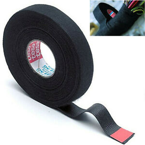 19mmx15M Adhesive Cloth Fabric Tape Cable Wiring Harness For Car Auto Vehicle US