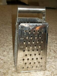 Large Stainless 6 Cup Grater 9 1/2 x 4 1/2