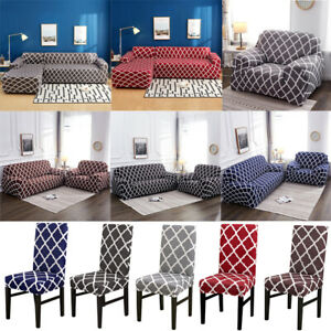 Stretch Chair Loveseat Sofa Covers 1 2 3 4 Seater Couch Cover L Shape Slipcover