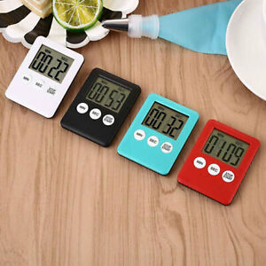Magnetic LCD Digital Kitchen Timer Count Down Egg Cooking Clear Loud Alarm US