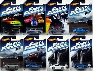 Hot Wheels 2017 FAST & FURIOUS SERIES Set of 8 Cars NEW Porsche Corvette Honda