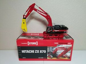 Hitachi ZX870 Zaxis Mammoet Excavator w Shear by WSI 1:50 Model #02-1057 New!