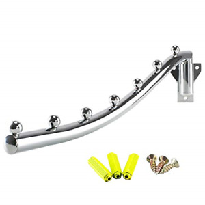 Folding Wall Mounted Clothes Hanger Coat Rack Detachable Sturdy Stainless Steel