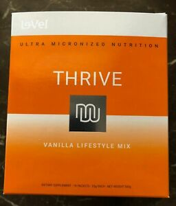 Le-Vel THRIVE 2.0 Premium Vanilla Lifestyle Shakes - Single Serve - Unopened Box