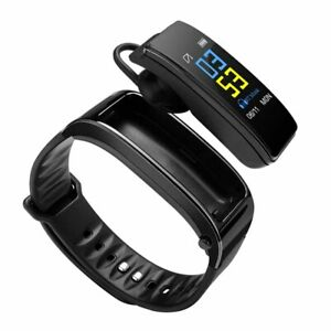 Wireless Bluetooth Earphone Smart Watch with Heart Rate Blood Pressure Monitor