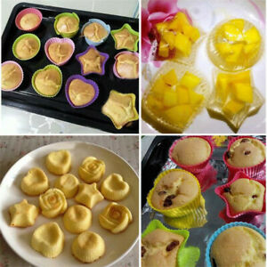 6x Non-Stick Silicone Cake Muffin Chocolate Mold Cupcake Baking Cup Cookie Tool