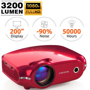 3200 Lumen Home Theater Projector Full HDCinema HDMI with Dual Built-in Speaker