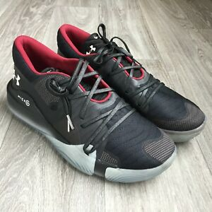 Under Armour Spawn Anatomix Low TB Men Running Shoes 12.5 Black Red Basketball