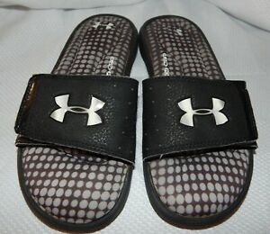 Under Armour  Well Padded insoles shoes Slides Sandals boys girls Size 5Y