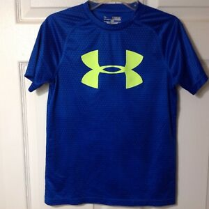 UNDER ARMOUR BOYS LOOSE HEAT GEAR SHORT SLEEVE TEE SHIRT SIZE MEDIUM YMD