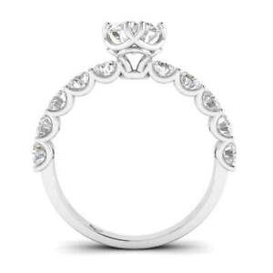 White Gold Vintage Antique-Style Designer Round Diamond Engagement Ring - 1.50 c