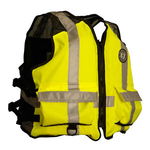 Mustang High Visibility Industrial Mesh Vest - LXL - YellowBlack