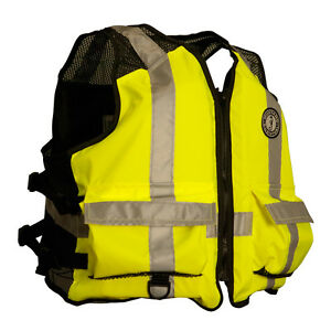Mustang High Visibility Industrial Mesh Vest - SMMED - YellowBlack