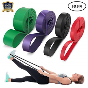4 Set Resistance Pull Up Assist Stretch Resistance Band For Resistance Training