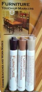 Wood Furniture Touch Up Markers  Scratch Repair 3 Shades New