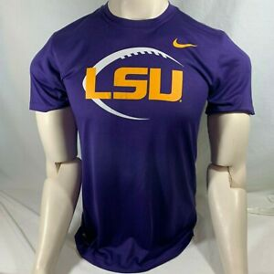 Nike Dri-Fit LSU Tigers Football T-Shirt Size Medium Purple
