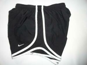 NIKE DRI FIT XS Tempo Lined Athletic Shorts Womens Black White Running