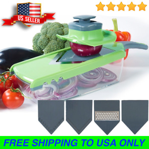 Manual Vegetable Mandoline Slicer Fruit Cutter Stainless Steel Kitchen Appliance