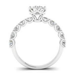 White Gold Vintage Antique-Style Designer Round Diamond Engagement Ring - 1.75 c