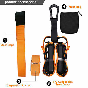Resistance Straps Trainer Bundle Kit Complete BodyWeight Training Straps Kit