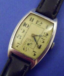 Working Rotary Solid Silver Art Deco 15 Jewel Watch Wristwatch