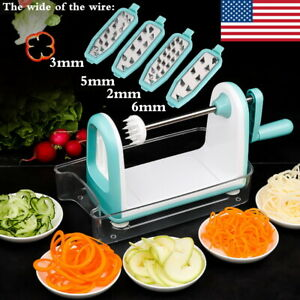 Multifunction 4 Blade Manual Slicer Vegetable Peeler Dicer Cutter Chopper Grater