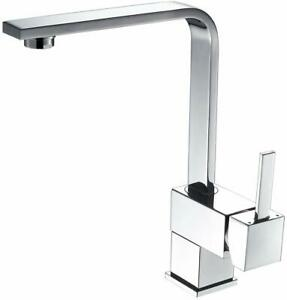 OUGOO Kitchen Sink Faucet with Bubble Aerator Brass Single Handle Kitchen Faucet