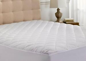 Quilted Mattress Cover Protector Queen Size Bedding Extra Deep Fitted Sheet