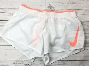 Nike Womens Dry GX Running Shorts Size XL White Coral NEW