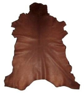 Premium Coyote Brown Grain Goatskin Leather Hide Soft 2.5 oz Goat Skin