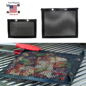 Non-Stick Mesh Barbecue Grilling Bag Basket Grill BBQ Tools Net Mat Meat Picnic