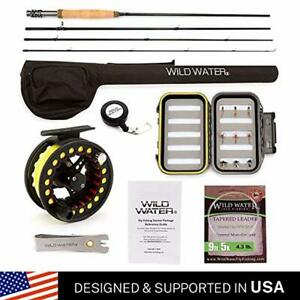 Wild Water Rod Fly Fishing Complete Starter Package Lightweight Case Zippered