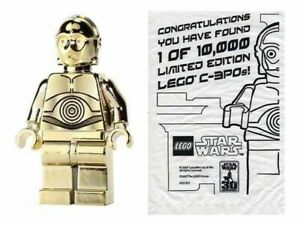 LEGO STAR WARS CHROME GOLD C-3PO 4521221 1 OF 10000 LIMITED EDITION NEW SEALED!
