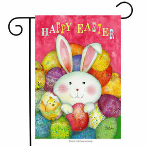 FM171 HAPPY EASTER BUNNY COLORFUL EGGS SPRING CHICK  12
