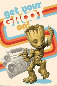 GUARDIANS OF THE GALAXY VOL. 2 - MOVIE POSTER / PRINT (GET YOUR GROOT ON)