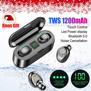 Bluetooth Earbuds TWS Wireless Earphones Mini Headset Magnetic Case Xmas Gift