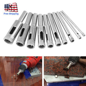 10pc Diamond Tool Glass Ceramic Marble 3-13mm Drill Bit Hole Saw Tile Cutter Set