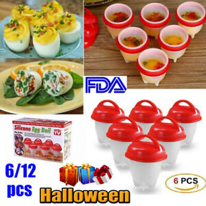 Silicone Egg Boiler Omelette Cooker Set as seen on TV Great Daily Use Halloween