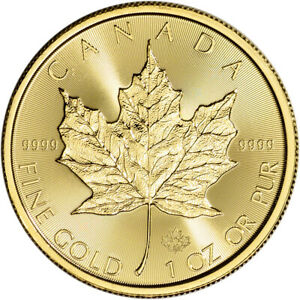 2020 Canada Gold Maple Leaf 1 oz $50 BU
