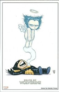 DEATH OF WOLVERINE LITHOGRAPH BY SKOTTIE YOUNG MARVEL COMICS $9.99