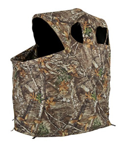 Ameristep 54 x 45 Polyester Realtree Edge Camo Tent Chair Ground Hunting Blind