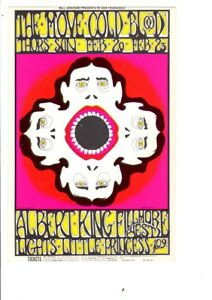 ORIGINAL 1967 PRE CONCERT BG 161 OPC A THE MOVE COLD BLOOD FILLMORE CARD