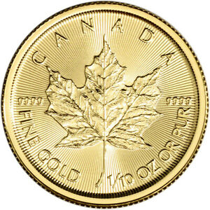 2020 Canada Gold Maple Leaf 1 10 oz $5 BU