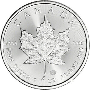 2020 Canada Silver Maple Leaf 1 oz $5 BU