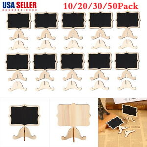 10/20/30/50X Mini Thicker Black Chalkboards Signs Wood Message Board Signs Cards