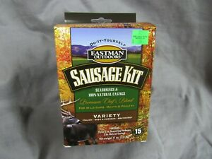 Eastman Outdoors Sausage Kit Variety Pack Italian, Beer &Cheddar,Bratwurst 38661